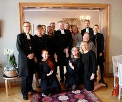 Första evenemanget var besök till Borgå och prästvigningen.